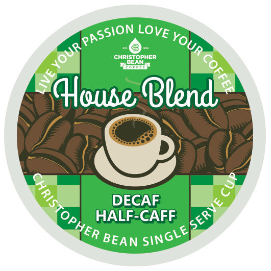 House Blend Half Caff Decaf Single Cup