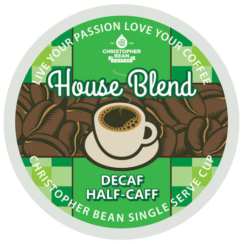 House Blend Half Caff Decaf Single Cup (New 18 Count)