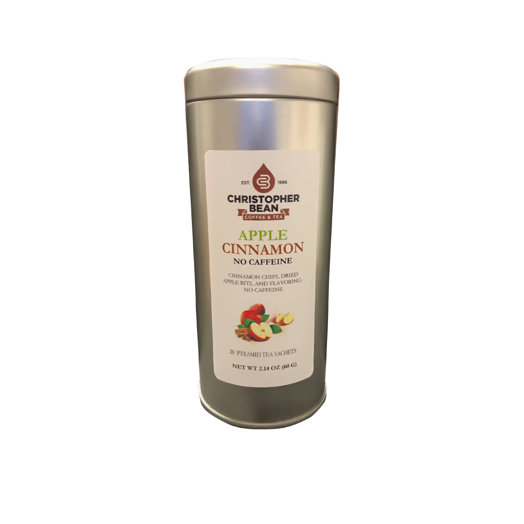 Apple Cinnamon Herbal Tisane 20 Pyramid Tea Sachets In Metal Tin