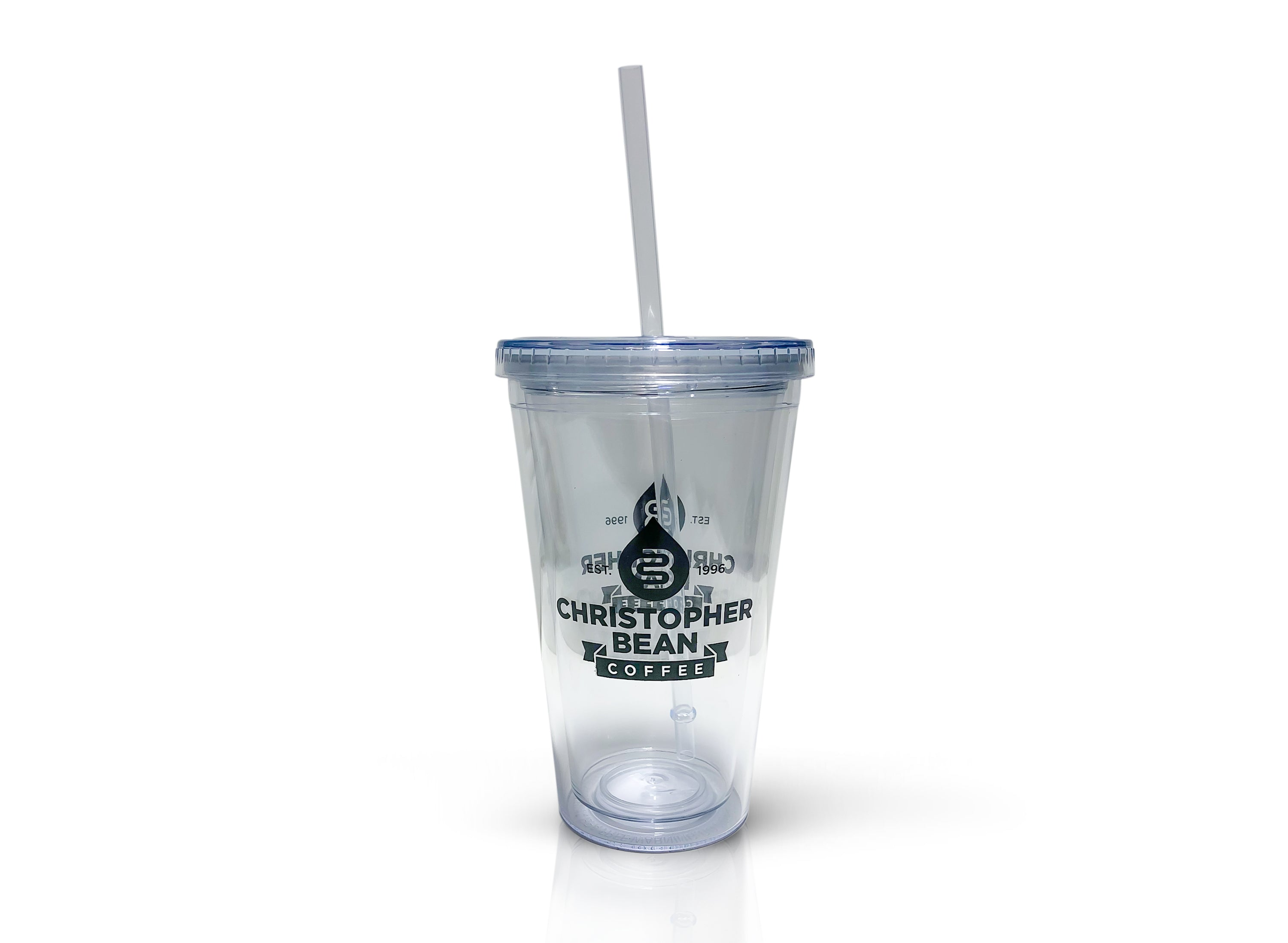 04d3f04fbf3 16 oz. Double Wall Acrylic Tumbler With Straw – Christopher Bean ...