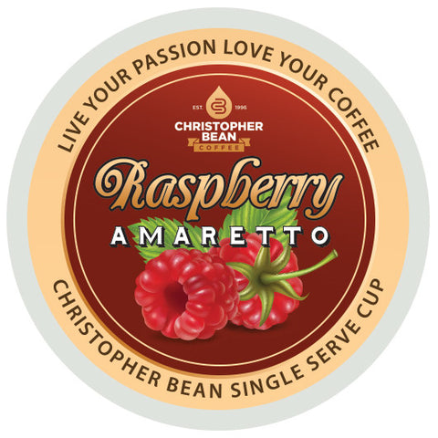 Amaretto Raspberry Single Cup (NEW 18 Count)