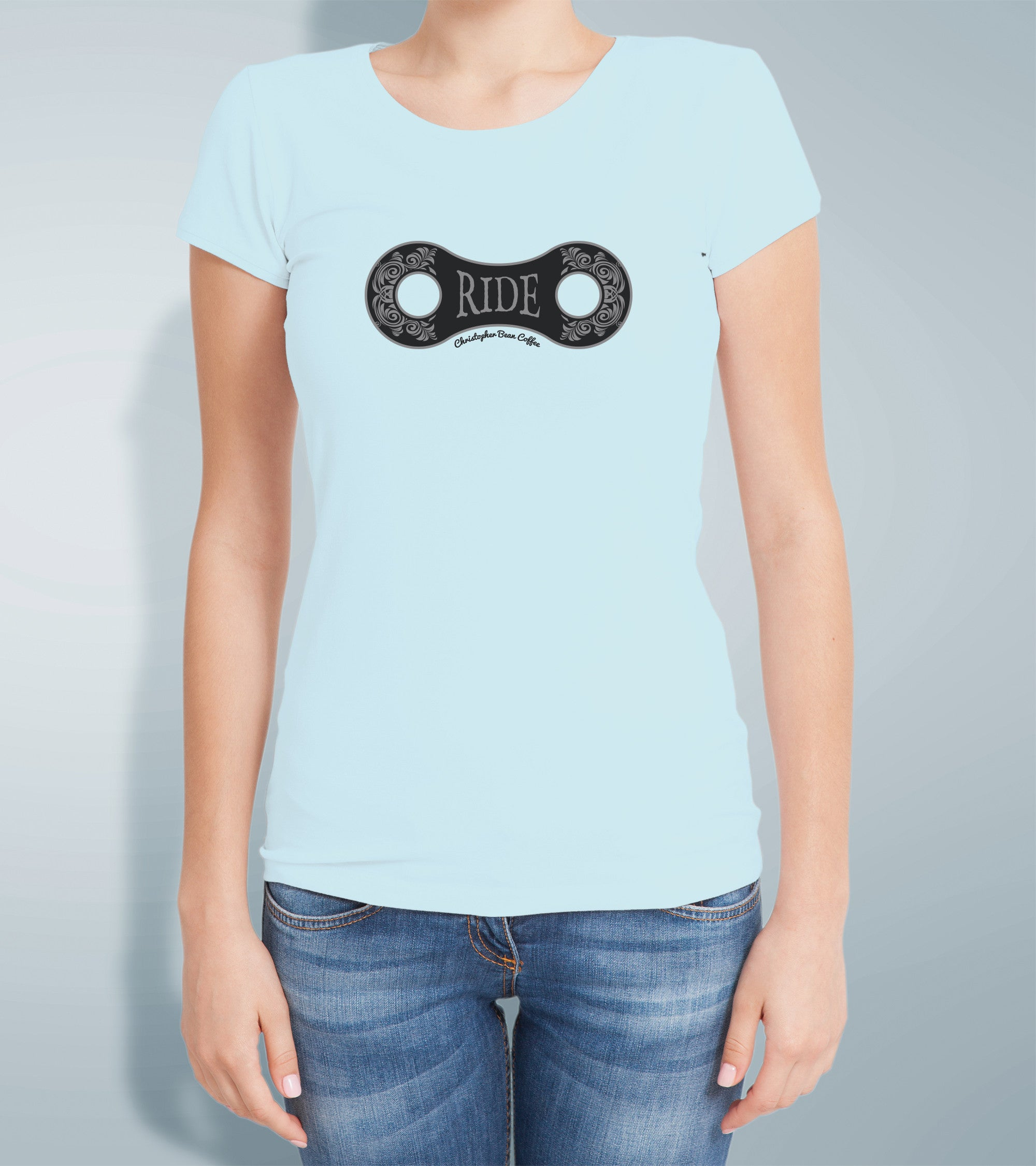 Ladies Ride Design T Shirt