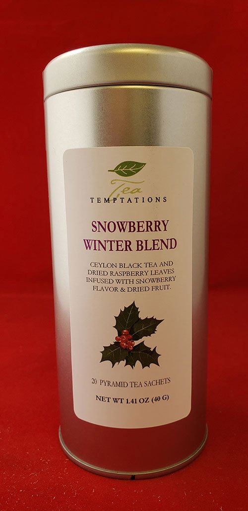 Snowberry Winter Blend 20 Pyramid Tea Sachets In Metal Tin