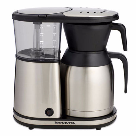 Bonavita 5-cup Coffee Brewer with Stainless Steel Lined Thermal Carafe - Handcrafted Artesian Specialty Gourmet And Flavored Coffee