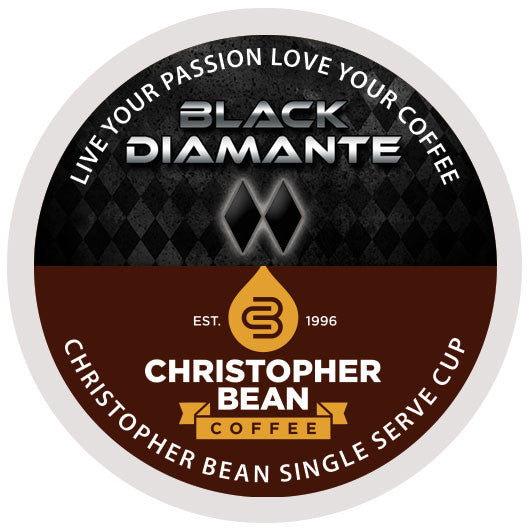 Black Diamonte Single Cup - Handcrafted Artesian Specialty Gourmet And Flavored Coffee