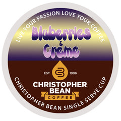 Blueberries & Creme Single Cup - Handcrafted Artesian Specialty Gourmet And Flavored Coffee