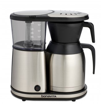 Bonavita 8 Cup Coffee Brewer with Stainless Steel Lined Thermal Carafe - Handcrafted Artesian Specialty Gourmet And Flavored Coffee