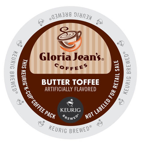 Gloria Jean's® Butter Toffee Coffee K-Cup® Pod - Handcrafted Artesian Specialty Gourmet And Flavored Coffee