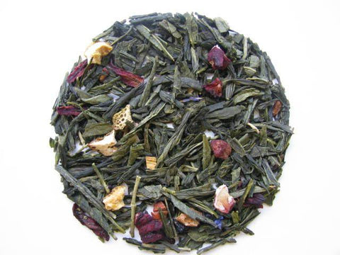 Peach & Apricot Green Tea  20 Pyramid Tea Sachets In Metal Tin