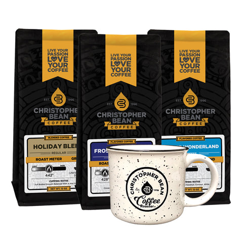 Coffee & Camp Fire Mug Gift Set 3 Bags 1 Mug (Free Shipping)