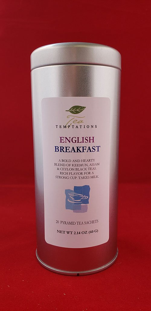 English Breakfast 20 Pyramid Tea Sachets In Metal Tin