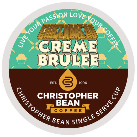 Gingerbread Creme Brulee Single Cup - Handcrafted Artesian Specialty Gourmet And Flavored Coffee