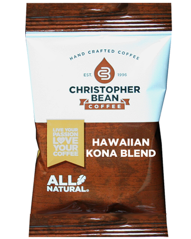 Hawaiian Kona Blend Case Fractional Control Portion Pack - Handcrafted Artesian Specialty Gourmet And Flavored Coffee