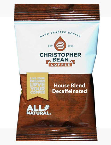 House Blend Decaffeinated Case Fractional Control Portion Pack - Handcrafted Artesian Specialty Gourmet And Flavored Coffee