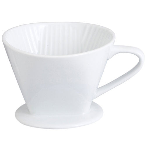 Melitta Porcelain Pour-Over Filter Cone Coffee Brewer - Handcrafted Artesian Specialty Gourmet And Flavored Coffee
