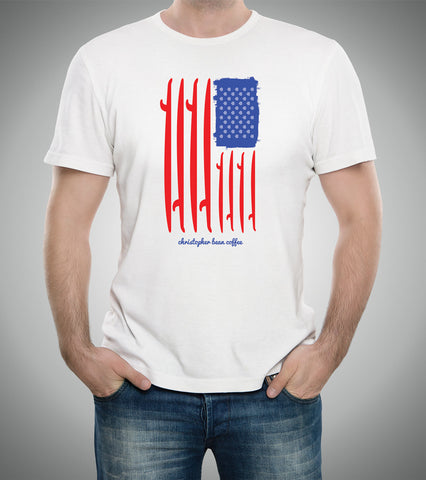 Mens Surfing CB Flag T Shirt
