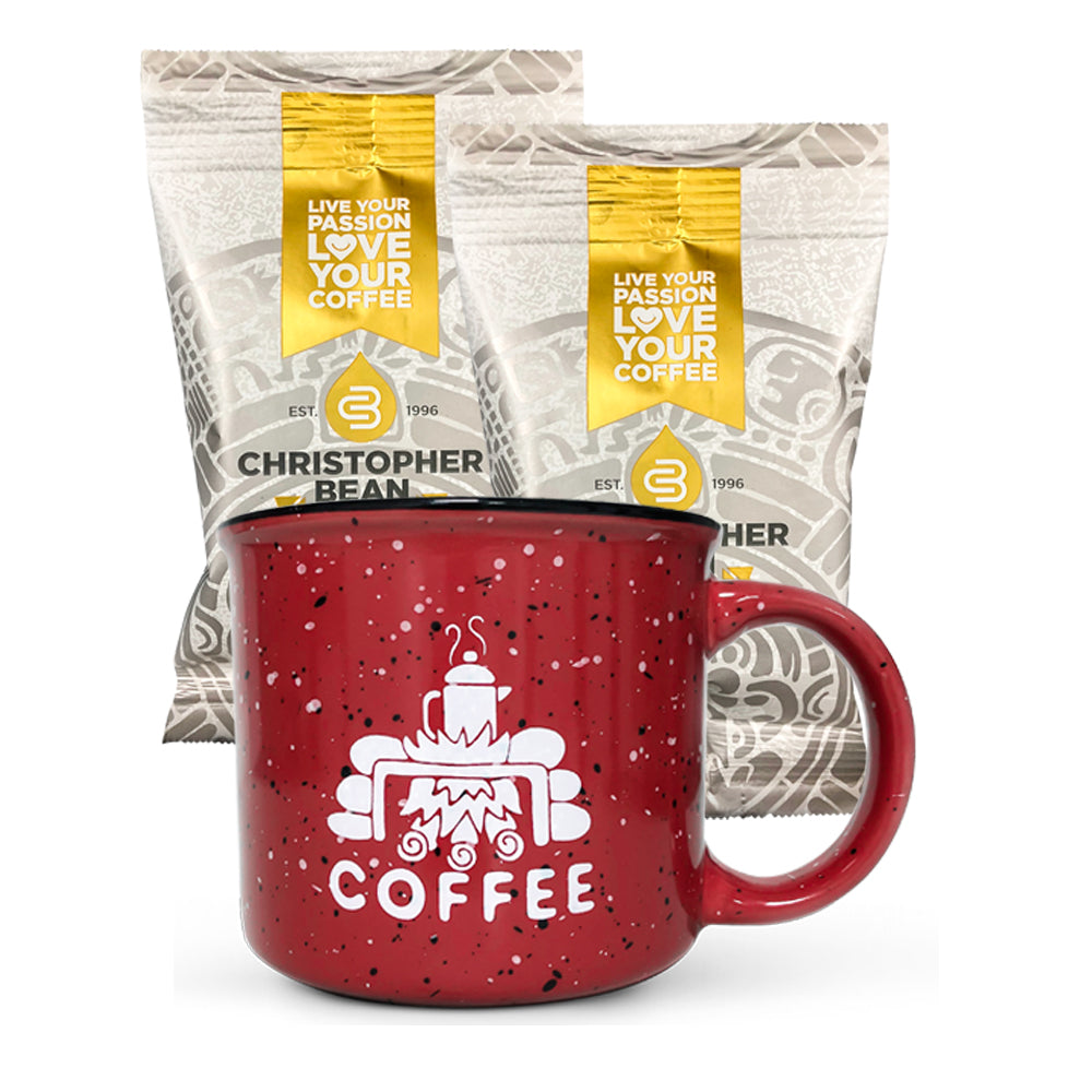 Trial Size Coffee & Campfire Mug Set 1 Mug 2 Bags ( Free Shipping)