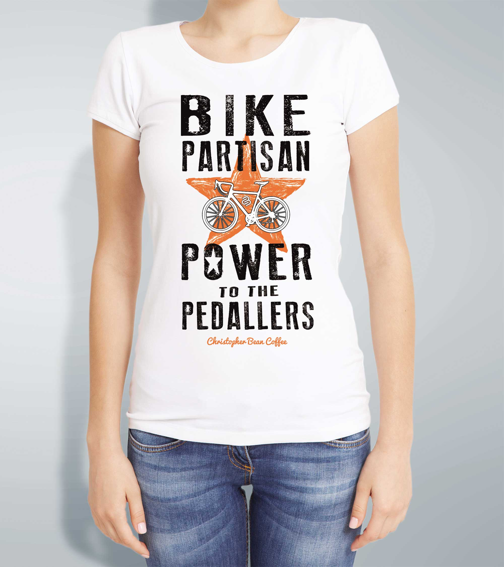 Ladies Power To The Pedallers T Shirt