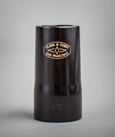 Fobes clarinet barrel - Blackwood