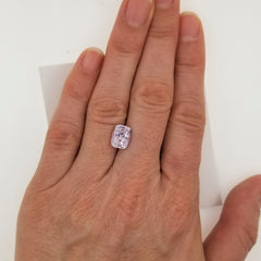 large cushion pink sapphire