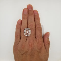 Morganite 15.07cts Cushion Cut