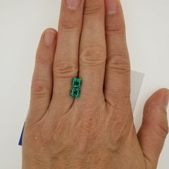 Emerald Pair 2.11ct Total Weight