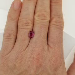 Natural Ruby 1 Carat Oval July Birthstone