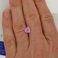 Pink Sapphire 1.92 Carats Pear Shape