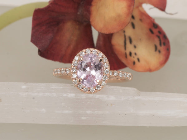 Pink Sapphire 1.75cts Rose Gold Engagement Ring
