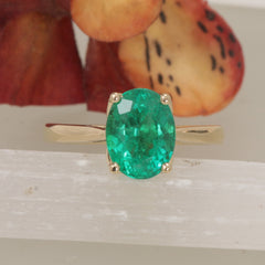 solitaire emerald ring