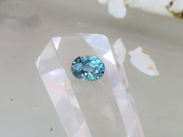 RESERVED Deposit on Custom Teal Sapphire Blake Lively Inspired Ring