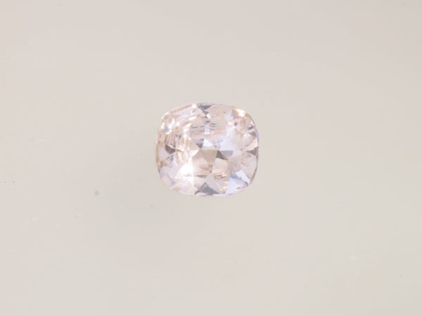 RESERVED Peach Sapphire 2.20cts Cushion September Birthstone
