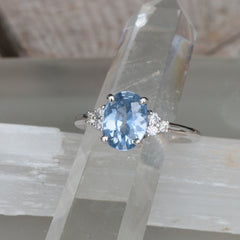 Final Payment on Custom Light Blue Sapphire Seven Stone Engagement Ring