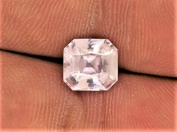 Pink Sapphire 1.88cts Radiant Cut Precision Cut by Rogerio