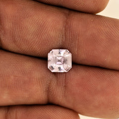loose radiant pink sapphire