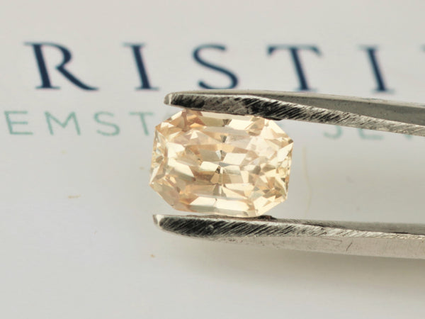 RESERVED Radiant Cut Peach Sapphire 2.43 Carats Precision Cut by Rogerio Graca