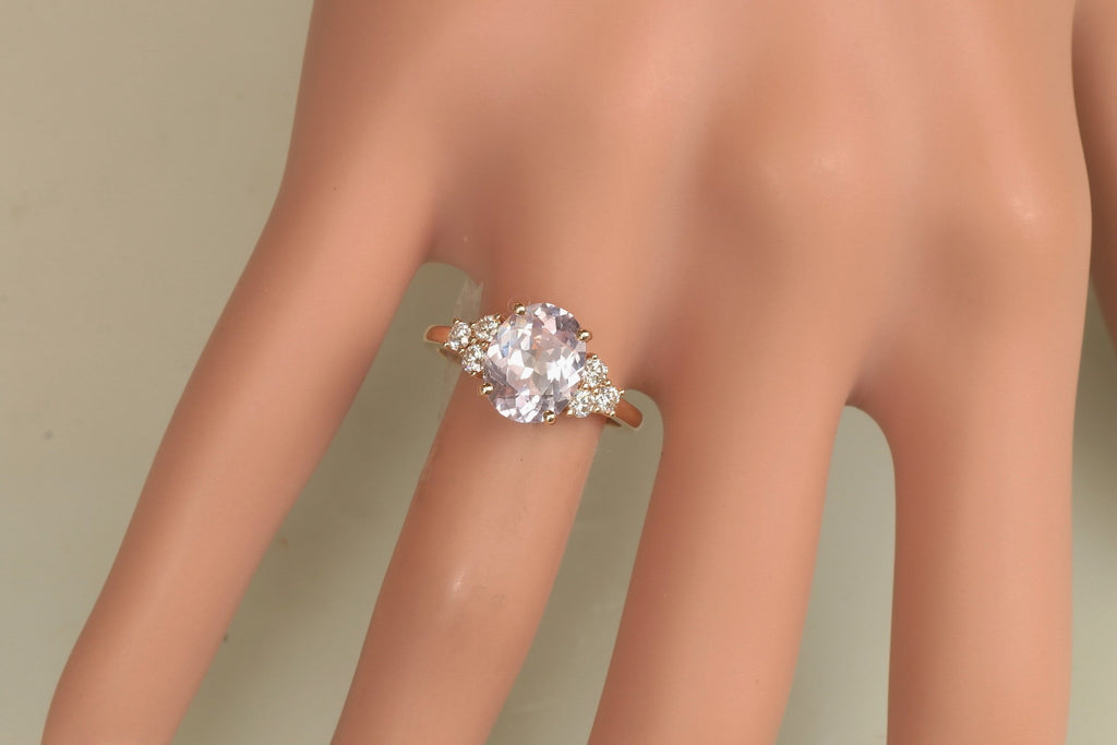 rose ring image gold lavender engagement cushion new of rings peach sapphire champagne diamond