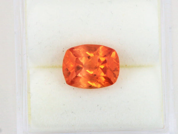 Orange Sapphire 2.61cts Antique Cushion