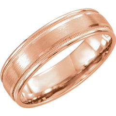 RESERVED Men's and Ladies Rose Gold Wedding Bands