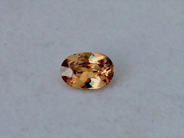 Cognac Colored Sapphire 1.04ct Oval Precision Cut Gemstone