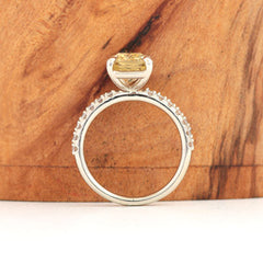 yellow diamond alternative engagement ring