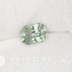mint green sapphire radiant cut for engagement ring