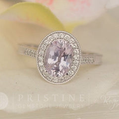 Purple sapphire vintage ring lavender sapphire engagement ring