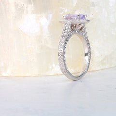 Vintage Inspired Semi Mount for Custom Engagement Ring
