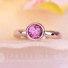 solitaire purple sapphire ring