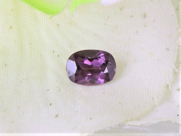 antique cushion purple sapphire