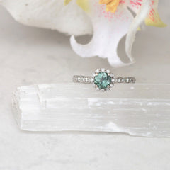 blue green sapphire ring right hand ring