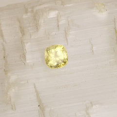 Cushion Canary Yellow Sapphire September Birthstone
