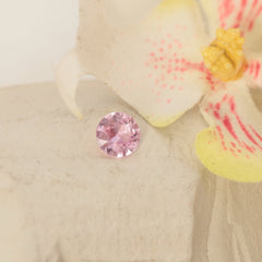 Round Pink Sapphire 1.02ct Precision Cut by Rogerio Graca