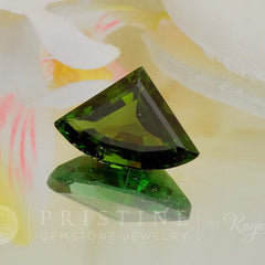 green tourmaline fancy shape by Pristine Gemstone Jewelry